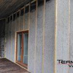 Sienos šiltintos ekovata šlapiu būdu